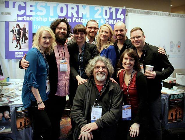 Participants in Ice Storym 2014 included Gilles Garand (center), Maja & David, and members of Kongero and Jidder.