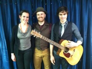 Jean Rohe, Liam Robinson (her longtime musical partner) and Matt Nakoa (Photo: Michael Kornfeld)