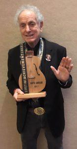 David Amram holds his Lifetime Achievement Award. (Photo: Michael Kornfeld)