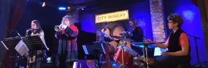 Isle of Klezbos performs during a Klezmer brunch at City Winery (iPhone Photo: Michael Kornfeld)