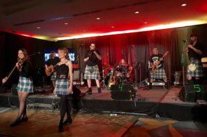Tartan Terrors showcase their talents at the New York Hilton (iPhone Photo: Michael Kornfeld)